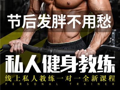 健身服务线上私人教练一对一指导的封面图