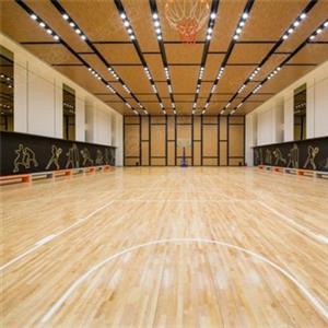 篮球馆为什么要用实木地板